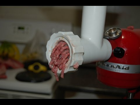Grinding meat with a kitchenaid