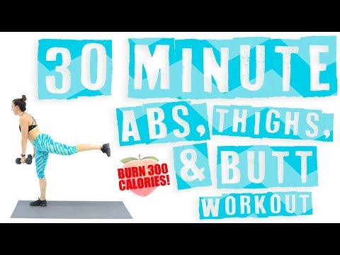 30 Minute Abs, Thighs, and Butt Workout 🔥Burn 300 Calories! 🔥
