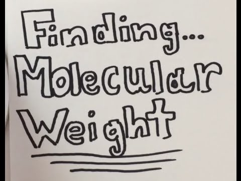 How To: Find Molecular Weight Of ANYTHING (w/ practice problems)