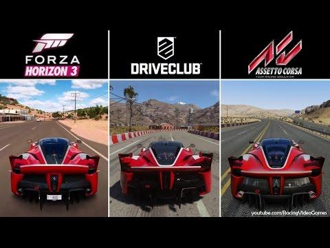Forza Horizon 3 vs. DriveClub vs. Assetto Corsa   Ferrari FXX K SOUND Comparison (PS4 & Xbox One)
