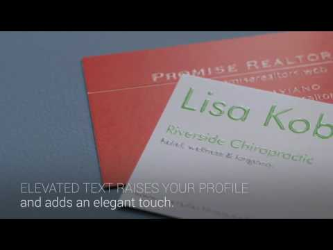 Raised Print UV Business Cards