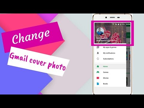 How to change cover photo of Gmail