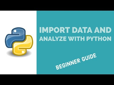 Import Data and Analyze with Python