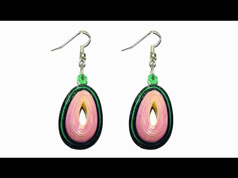 Quilling earring - water proof quilling papers earring making tutorial