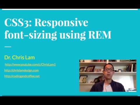 Responsive Web Design: Using rems to create responsive font sizes