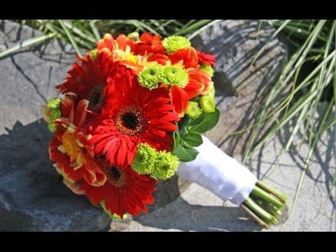 Red Gerbera Daisy Wedding Bouquet