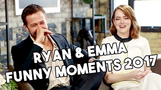 Ryan Gosling and Emma Stone | La La Land | Funny Moments 2017