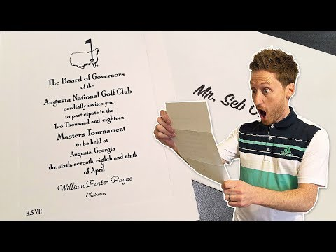 I'VE BEEN INVITED TO THE MASTERS!!! + Augusta Preview w/ Nick Dougherty!
