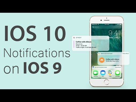 How to get IOS 10 Notifications, Widgets,  on IOS 9