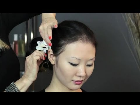 How to Put an Orchid in Your Hair : Bridal Hair Upstyles