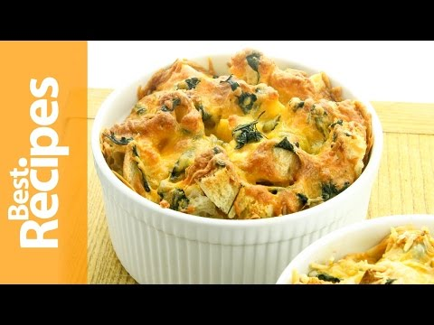 Cheddar Cheese and Spinach Strata - Best Recipes with Drew Maresco
