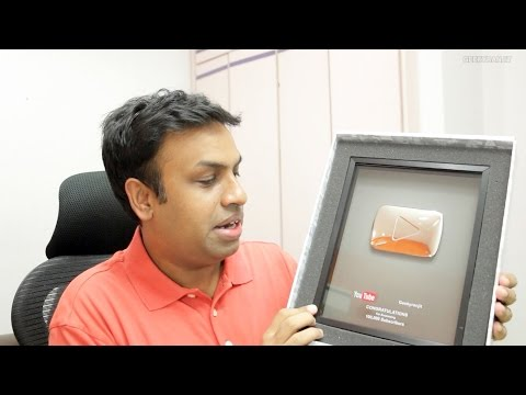 Received the Silver Play Button from YouTube :)