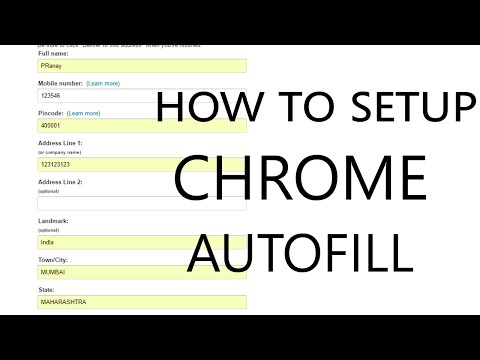 How to setup Chrome Autofill? The easy way! | Fill forms with one click