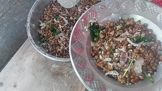 Healthy Cooking / Fresh Black Chana Dal (chickpeas) Fry (Sundal) in Our Village