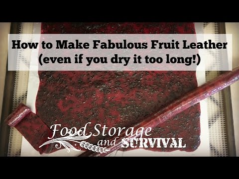 How to Make Fabulous Fruit Leather (even if you dry it too long!)