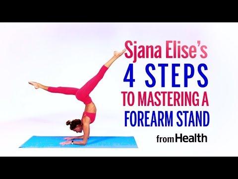 Sjana Elise's 4 Steps to Mastering Forearm Stand   Health