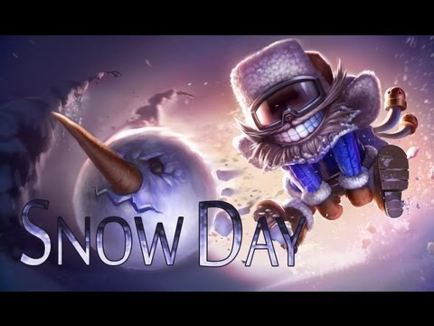 League Skins - Snow Day Ziggs (Ability Effects, Animations & Emotes)