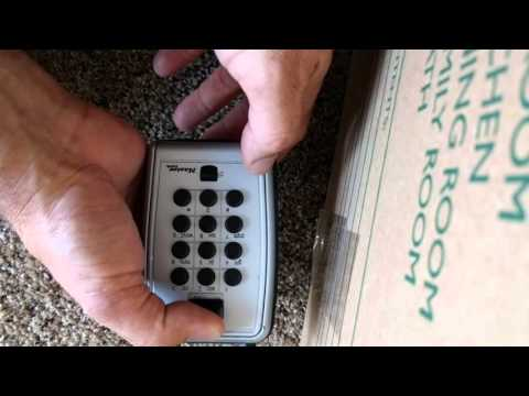 How to pick push button master lock realtor lockbox