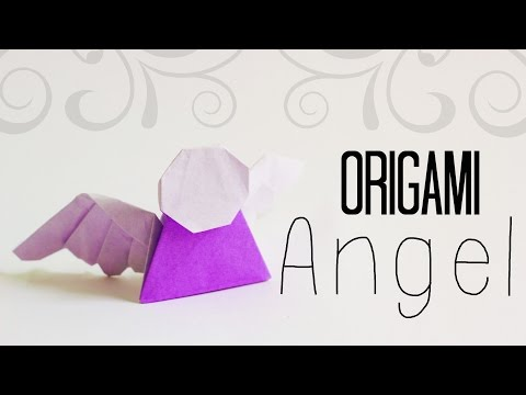 How to make an easy origami Angel (Tadashi Mori)