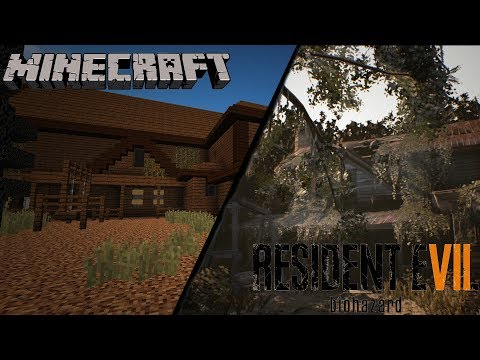 [Part 1] Resident Evil 7 Guest house on Minecraft!!