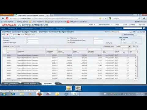 JD Edwards EnterpriseOne One View Reporting Demo