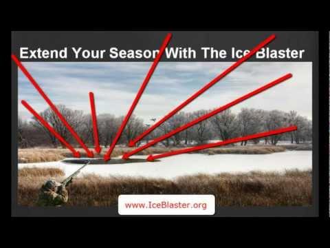 KEEP ICE off DUCK HUNTING POND - SD ND IA watefowl ice blaster