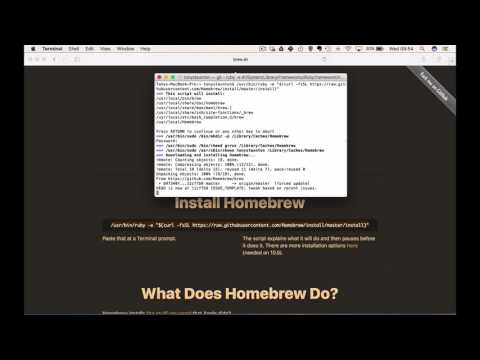 How to install Homebrew and Pygame