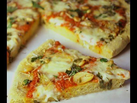 How to make Cornmeal Crust Pizza Recipe.