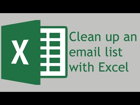 How to clean up an email list using Excel