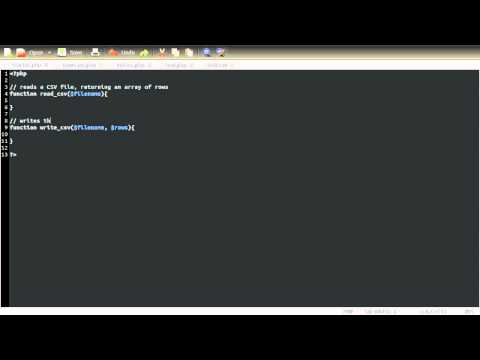PHP Tutorial: Using CSV Files [part 01]