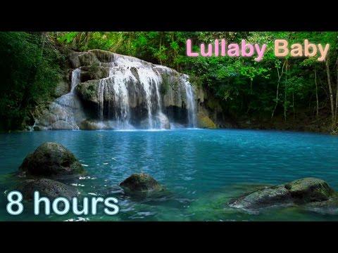 ☆ 8 HOURS ☆ WATERFALL MUSIC ♫ ☆ Relaxing Music and WATERFALL sounds for sleep ♫ Baby Sleep Music