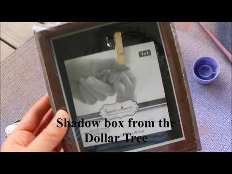 DIY DOLLAR TREE SHADOW BOX