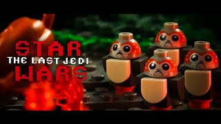 Star Wars The Last Jedi Chewbacca Eating a Porg in LEGO