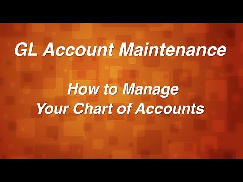 General Ledger Account Maintenance