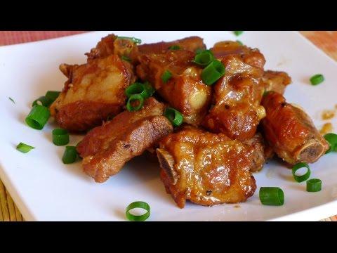 Caramelized pork spare ribs - Suon ram man