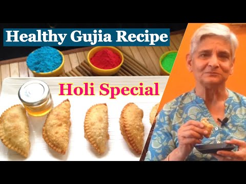 Healthy Gujia Recipe | How to make healthy Gujiya without mawa at home | Holi Special