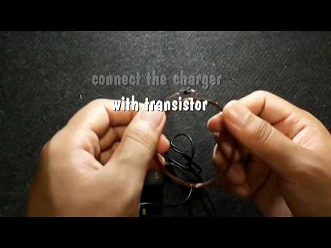 how to make simple wireless transmitter and receiver at home - wireless charger/ light basic