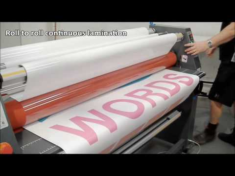 Sign Master Plus 1600 Laminator with Heat Assist Lamination System Video