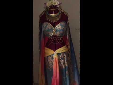 In-Progress Art Nouveau Princess Jasmine Costume