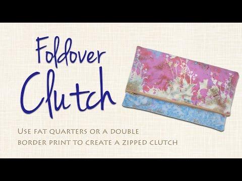 Easy Foldover Clutch DIY: Sew it Yourself!