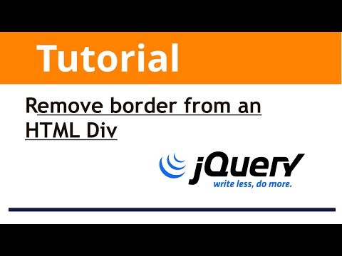 jQuery: How to to remove border from an HTML Div