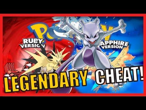 Pokemon Ruby/Sapphire LEGENDARY CHEAT CODES