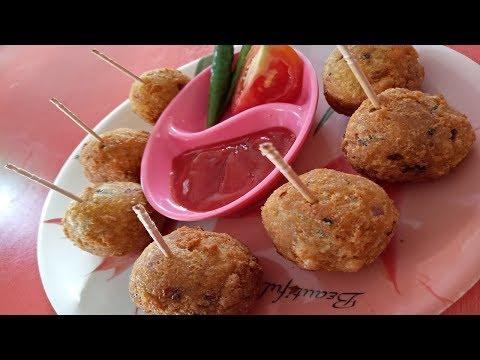 how to make FISH LOLLIPOP recipe in hindi(मछली लॉलीपॉप)