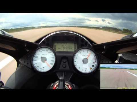 ZX-14 Top Speed Run, Standing Mile -  18.6.2011 Halli