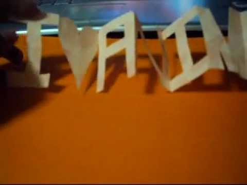 How to Cut DANNIE on Paper without Separating the Letters Part 1
