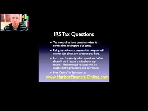 IRS Tax Questions for 2012, 2013