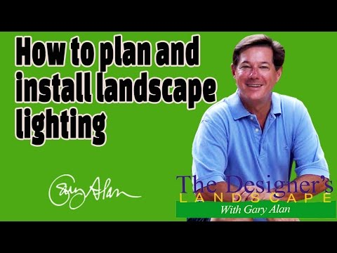 How to plan and install landscape lighting