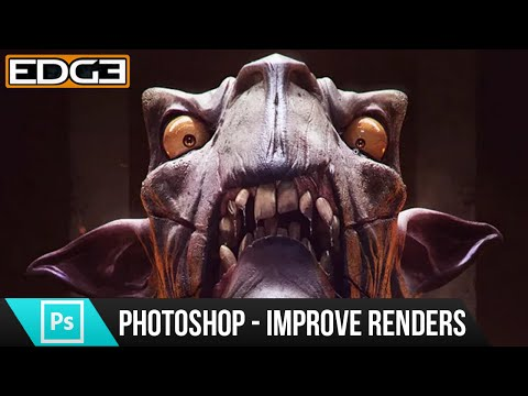Photoshop Tutorial - How to Improve 3D Renders