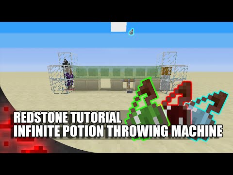 Minecraft: Infinite Potion Throwing Machine!