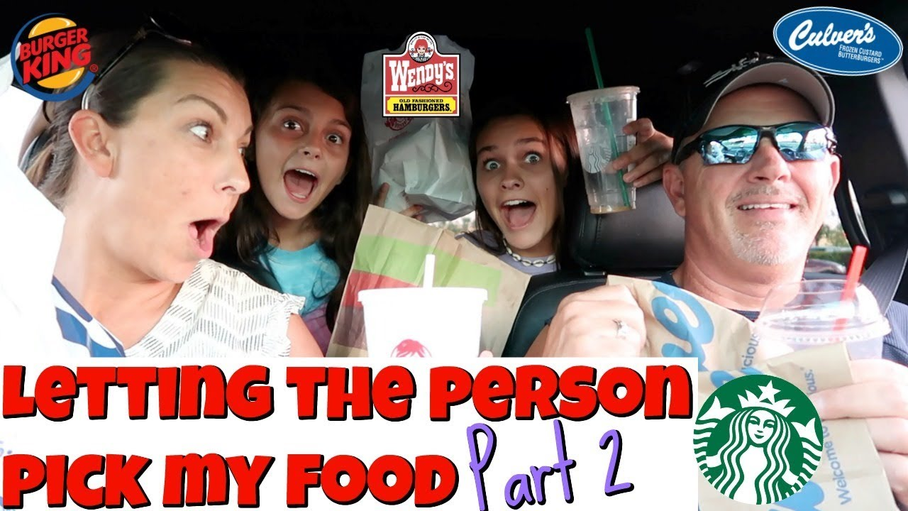 Letting The Person In FRONT Of Me DECIDE What We Eat for 24 HOURS Part 2!